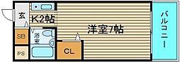 ラメゾンデ堺[2階]の間取り
