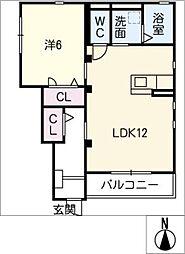 仮)レトア末広 A[1階]の間取り