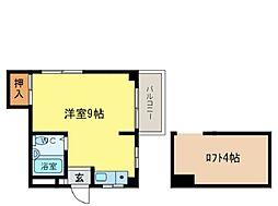 エスタシオン二軒屋[301号室]の間取り