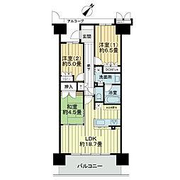 ワコーレシティ神戸三宮[7階]の間取り