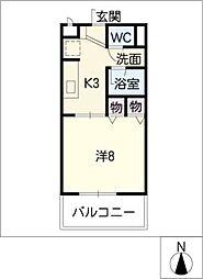 サープラス東郷II[1階]の間取り