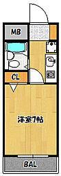 兵庫県神戸市兵庫区須佐野通1丁目の賃貸マンションの間取り