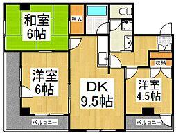 JUN朝霞台コート[3階]の間取り