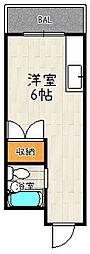 プレアール伏見深草Ⅱ[401号室]の間取り