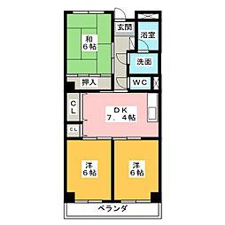 Avenue II[2階]の間取り