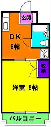 静岡県浜松市南区飯田町の賃貸マンションの間取り