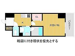 名古屋市営名城線 大曽根駅 徒歩3分の賃貸マンション 6階1Kの間取り