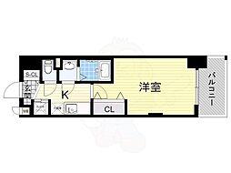 阪急京都本線 崇禅寺駅 徒歩3分の賃貸マンション 7階1Kの間取り