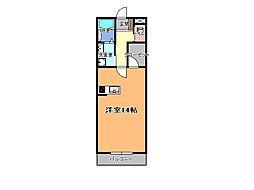 JR東北本線 宇都宮駅 バス40分 刈沼下車 徒歩3分の賃貸アパート 3階ワンルームの間取り