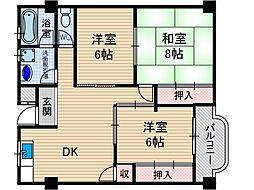 セブンハイム[3階]の間取り