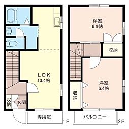 [テラスハウス] 埼玉県さいたま市大宮区北袋町2丁目 の賃貸【/】の間取り
