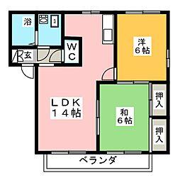 キャッスル飯塚A[1階]の間取り
