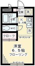 東京都狛江市東和泉4丁目の賃貸アパートの間取り