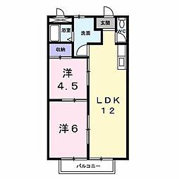 サンホーム[105 号室号室]の間取り