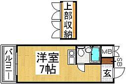 メゾン薬院[4階]の間取り