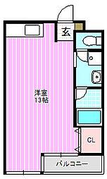 サイレント1[3階]の間取り