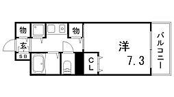 ルモンド兵庫[9階]の間取り