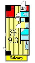 JR高崎線 尾久駅 徒歩4分の賃貸マンション 2階ワンルームの間取り