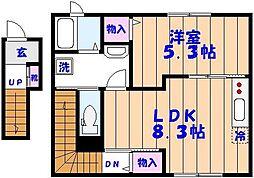 Domani S (ドマーニ エス)[202号室]の間取り