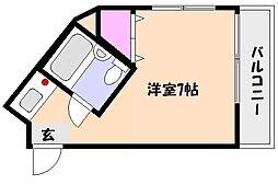 コーシハイツ[4階]の間取り
