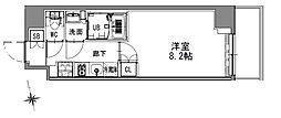 つくばエクスプレス 浅草駅 徒歩16分の賃貸マンション 2階1Kの間取り
