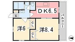 兵庫県姫路市白浜町神田2丁目の賃貸マンションの間取り