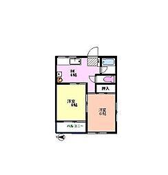 カワサキコーポ[302号室]の間取り
