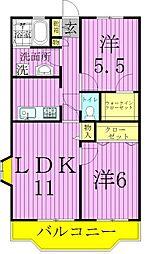 メトロステージ一ツ家[5階]の間取り