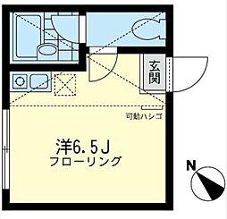 神奈川県横浜市鶴見区上末吉1丁目の賃貸アパートの間取り