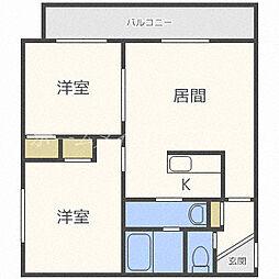 プレジデントイーストII[4階]の間取り