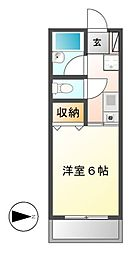 三恵ハイツ[6階]の間取り