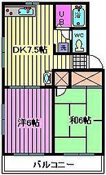 サルート[2階]の間取り