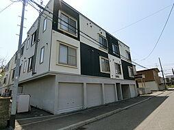 北海道札幌市白石区北郷一条3丁目の賃貸アパートの外観