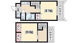 Osaka Metro御堂筋線 新大阪駅 徒歩18分の賃貸マンション 9階2Kの間取り