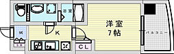 阪急宝塚本線 三国駅 徒歩5分の賃貸マンション 2階1Kの間取り
