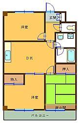 第5小池ビル[202号室]の間取り