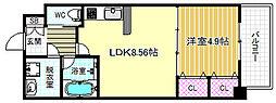 プレジオ中津[3階]の間取り