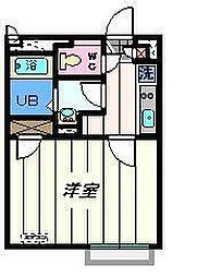 東京都足立区扇1丁目の賃貸アパートの間取り