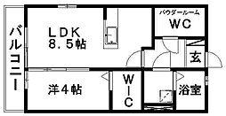 ドエル志都呂A[2階]の間取り