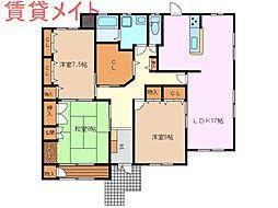 [一戸建] 三重県亀山市関町会下 の賃貸【/】の間取り