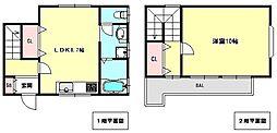 兵庫県神戸市中央区中山手通6丁目の賃貸アパートの間取り
