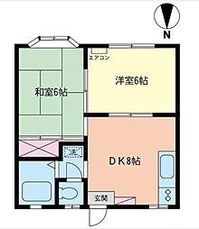 ドリームアロー石川B[102号室]の間取り