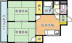 シャトレ上の原[1階]の間取り