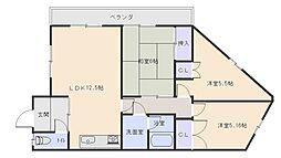 大松マンション[3階]の間取り