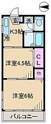 第3ヒルズハウス[1階]の間取り
