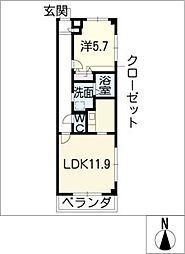 Surry−MA[3階]の間取り