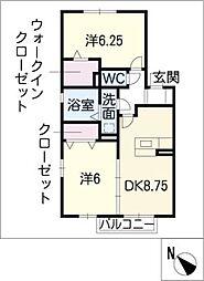 フルール シャン[2階]の間取り