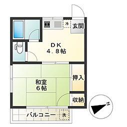 東京都調布市小島町2丁目の賃貸アパートの間取り