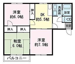 コートハウス[0201号室]の間取り