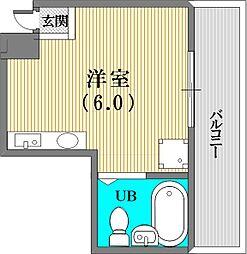 平野エスペランス[6階]の間取り
